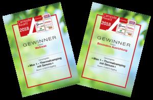 Max I Campingplatz Niederbayern mit Auszeichnungen 2018