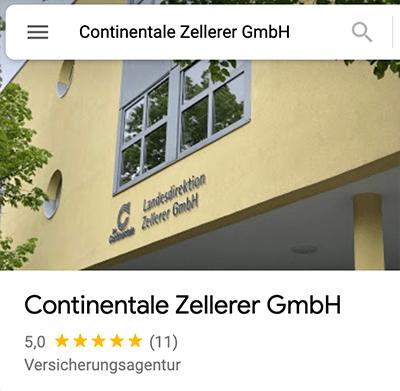 Bewertungen Continentale Zellerer Versicherung